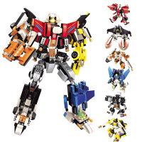 积木拼插机器人5兼容变形金刚合体6拼图9组装12小学生7儿童拼装玩具男孩生日礼物10岁