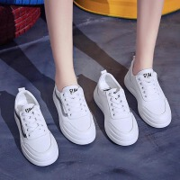 秋款百搭基础鞋子女韩版小白鞋女学生网红厚底增高小白板鞋女
