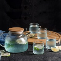 【好店】【好店】夏天加厚玻璃茶壶日式透明花茶壶家用花草茶具套装下午茶流行时尚
