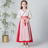 儿童汉服女童古装仙女春秋中国风连衣裙小女孩宝宝唐装夏装夏季
