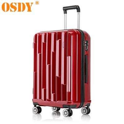 【可礼品卡支付】28寸 OSDY品牌新款 旅行箱 行李箱 拉杆箱 A45-耐压抗摔ABS+PC材质 静音万向轮 托运箱时尚个性的对流设计,凹凸有致的外在