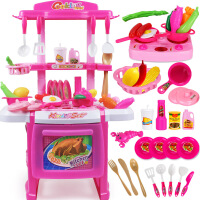 儿童过家家厨房玩具套装煮饭做饭购物车蛋糕仿真餐具男小女孩玩具 【