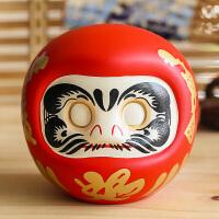 吉猫堂日式开运达摩摆件小号店铺开业创意家居礼品陶瓷存钱储蓄罐