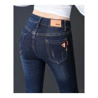 牛仔裤女小脚裤女士牛仔裤显瘦弹力高腰弹力铅笔长裤子