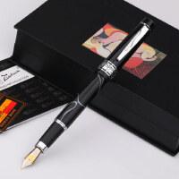 毕加索ps-915欧亚情怀纯黑幻彩钢笔 钢笔练字墨水笔