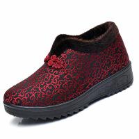 冬季老北京布鞋女棉鞋平底加绒保暖老人奶奶鞋中老年人妈妈鞋