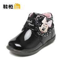 鞋柜童鞋 女童鞋子2018秋冬女童短靴加绒保暖儿童靴-tt