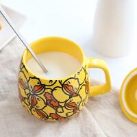 陶瓷杯子创意可爱女学生马克杯家用茶水杯带盖咖啡牛奶杯