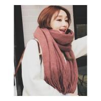 围巾女冬季韩版学生两用百搭秋冬天双面加厚长款披肩毛线针织围脖
