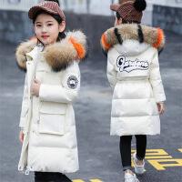 儿童棉衣女童中长款新款韩版童装女大童女孩冬装外套反季