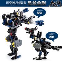 古迪8712 新乐新益智拼插积木 变形人-恐龙机器人儿童早教玩具