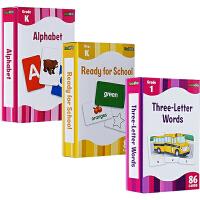 The Complete Book of Sight Words 配套字卡高效闪卡6盒套装 Alphabet/Ready for School/Sight Words/Phoni
