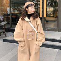 2018流行呢子大衣女中长款秋冬新款韩版学生过膝森系斗篷毛呢外套 均码