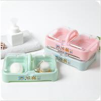 浴室洗衣沥水塑料肥皂盒多层有盖双层大号便携香皂盒