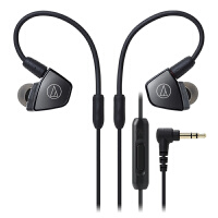 铁三角 LS300iS 三单元HIFI线控入耳式耳机 银色 手机耳麦 动铁监听