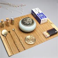 篆炉香炉 沉檀香粉香薰炉打拓熏香用具用品香道套装