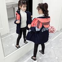 儿童女孩洋气夹棉加厚上衣2019秋冬季新款韩版女童童装外套
