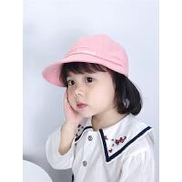 女宝宝夏季遮阳帽男童棒球帽百搭帽子春夏秋季儿童大檐鸭舌帽