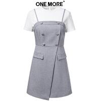 【12.7联合超品日 2件3折叠加300-80优惠券】ONE MORE2018冬装新款两件套连衣裙11KI830213