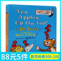 文原版绘本 Ten Apples Up on Top! 苏斯博士学会数数纸板书 Bright and Early Bo
