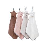 洁丽雅擦手巾挂式可爱韩国厨房卫生间加厚吸水儿童擦手小毛巾