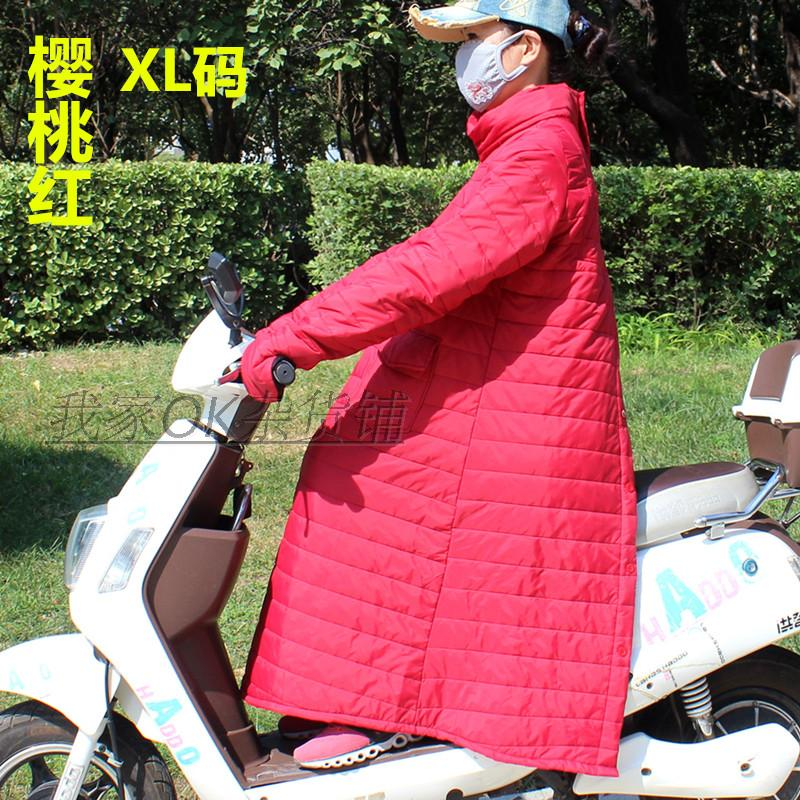 电动车防风衣服挡风被反穿手套护膝保暖秋冬季防雨水棉衣骑开车女