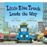 【预订】Little Blue Truck Leads the Way board book
