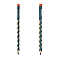 STABILO思笔乐 三角洞洞铅笔HB (2支装)矫正握姿学习用品322无毒铅笔握笔乐三角铅笔 当当自营