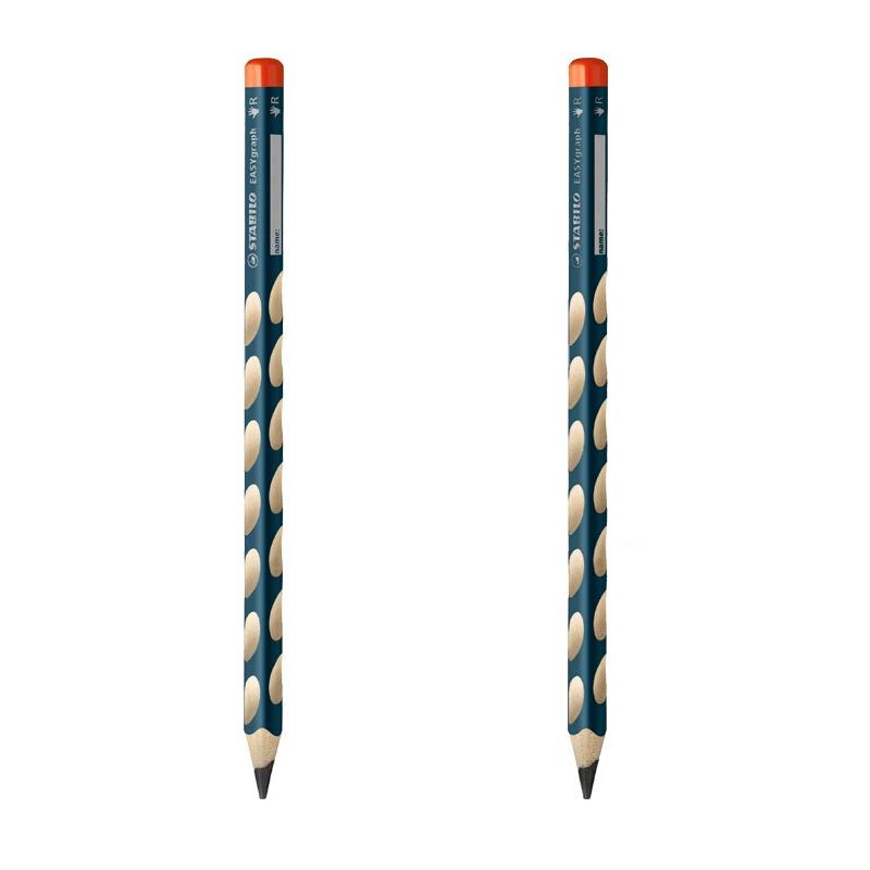 STABILO 思笔乐 三角洞洞铅笔HB 单支 矫正握姿学习用品322/HB 当当自营