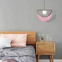 精美护眼时尚后现代创意流苏客厅沙发旁吊灯艺术床头卧室设计师样板房吊灯精美时尚吊灯 直径38CM 高 图片色
