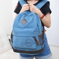 旅行包双肩包韩版帆布包男包女包14寸电脑包书包背包