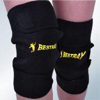 护膝 保暖BSR冬季自发热护膝中老年男女运动登山骑车护膝