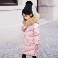 儿童羽绒服女童中长款女大童女孩中大童童装冬装反季
