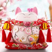 招财猫摆件开业礼品 店铺陶瓷创意家居摆放存钱罐储蓄罐